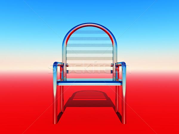 Szék fémes színes terv kék piros Stock fotó © guffoto
