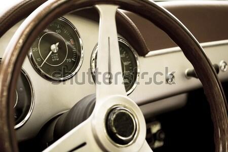 Műszerfal motorkerékpár terv üveg fém utazás Stock fotó © guffoto