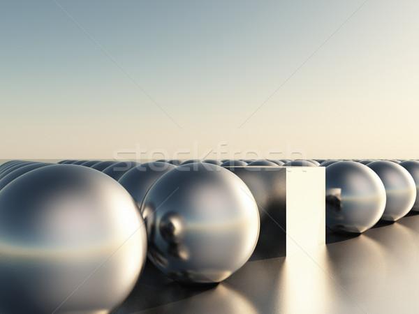 Sphères cube résumé groupe rouge structure Photo stock © guffoto