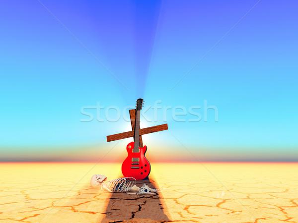 Zene halott zenészek halál fény kereszt Stock fotó © guffoto