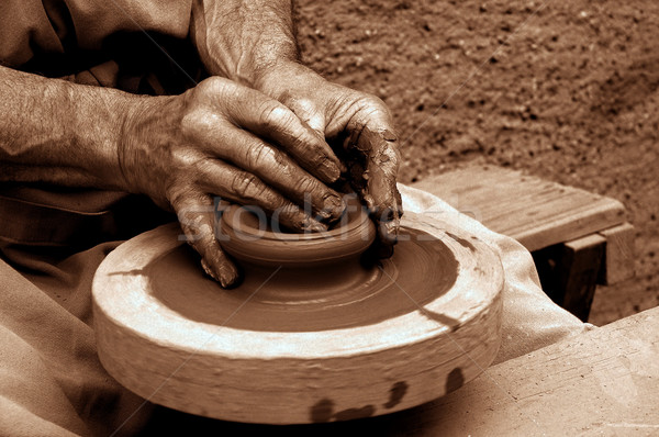 potter's wheel Stock photo © guffoto