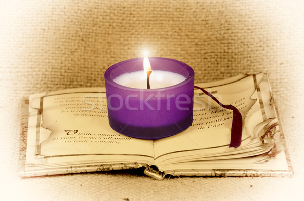 свет поэтический атмосфера свечу книга Сток-фото © guffoto