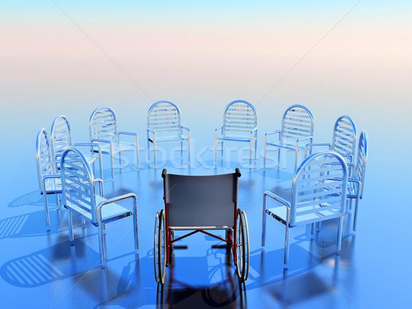 коляске круга пусто стульев один Председатель Сток-фото © guffoto
