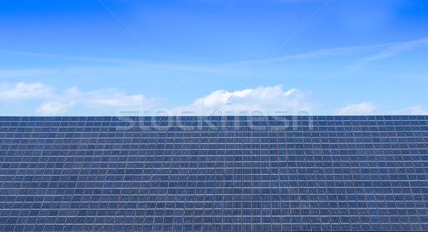 Napelem kilátás égbolt zöld erő elektromosság Stock fotó © guffoto