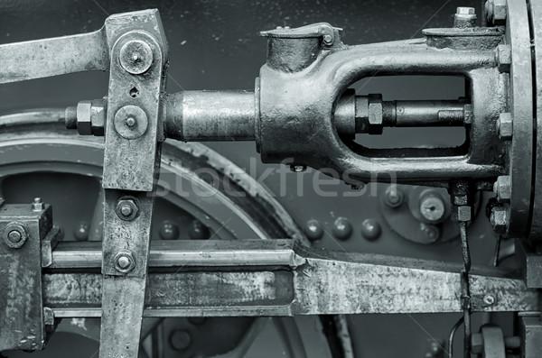 Stoomlocomotief oude macht oude Stockfoto © guffoto