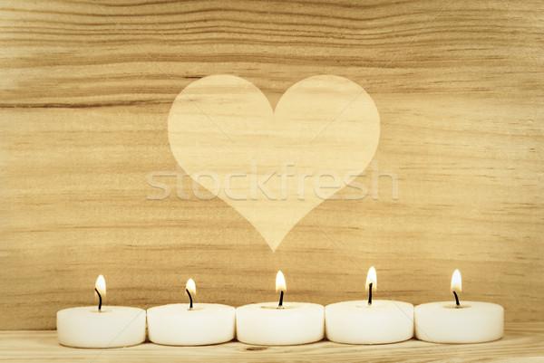 heart and candle Stock photo © guffoto