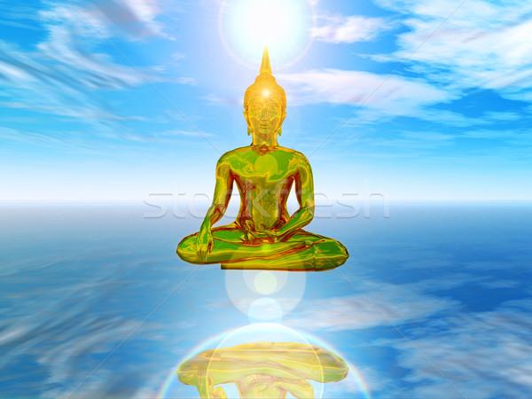 Zen 3D örnek ruhanilik barış Asya Stok fotoğraf © guffoto