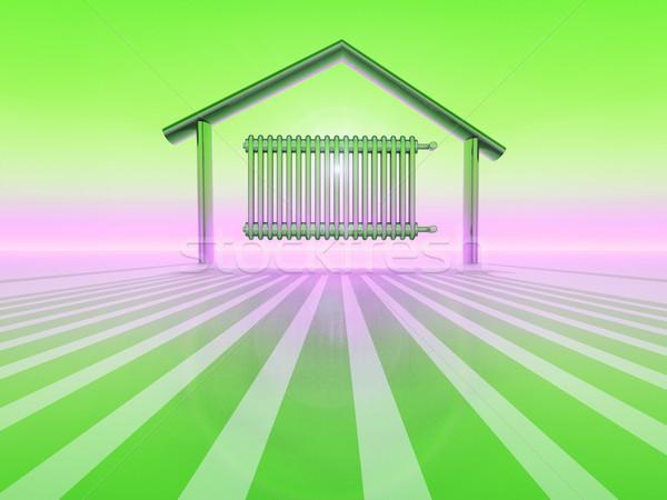 Radiatore home metal verde Foto d'archivio © guffoto
