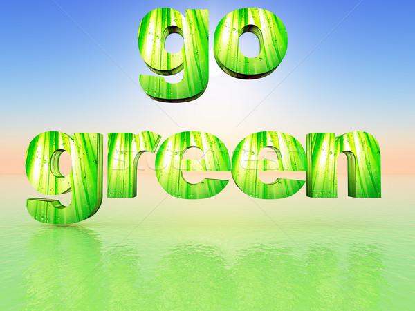 Vert mot herbe recycler environnement mettre Photo stock © guffoto