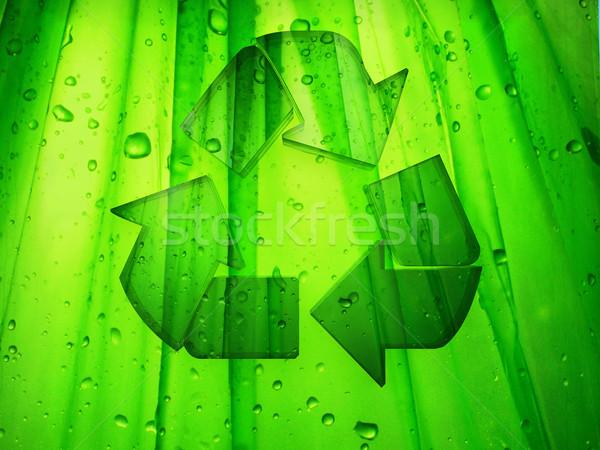 újrahasznosít illusztráció újrahasznosítás felirat zöld nyíl Stock fotó © guffoto