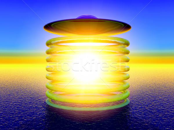 Ufo ciencia ficción ilustración tecnología espacio buque Foto stock © guffoto
