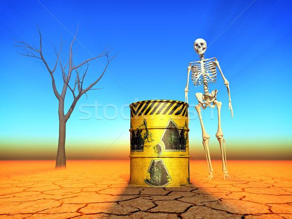 Radioativo ilustração metal industrial energia amarelo Foto stock © guffoto
