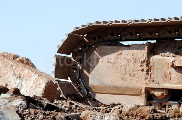 Yıkım makine çelik beton demir Stok fotoğraf © guffoto