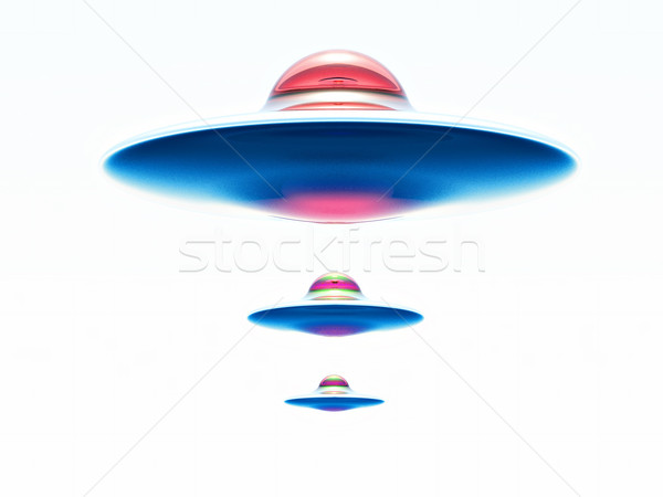 űrhajó három idegen fehér tenger űr Stock fotó © guffoto