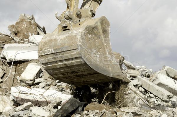 лопатой экскаватор работу здании промышленности почвы Сток-фото © guffoto
