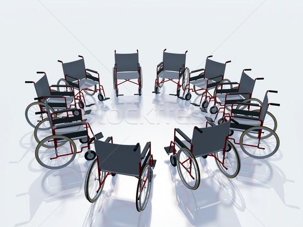 wheel chairs Stock photo © guffoto