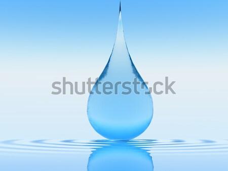 Damla hayat su dünya gezegeni içinde dalga Stok fotoğraf © guffoto