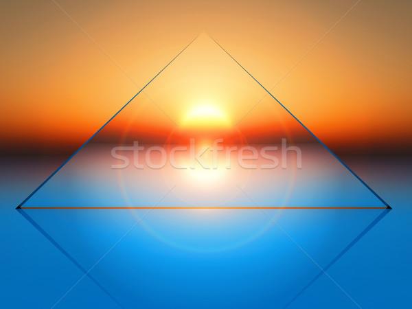 triangular shape Stock photo © guffoto