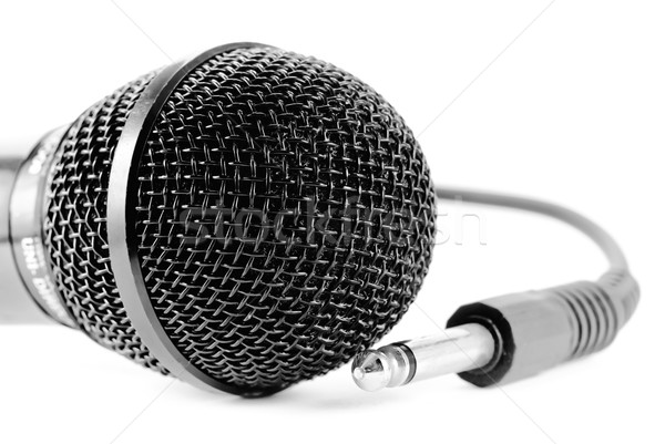Micro edad micrófono blanco fondo radio Foto stock © guffoto