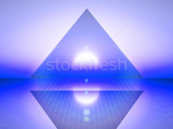 создание аннотация иллюстрация синий треугольник свет Сток-фото © guffoto