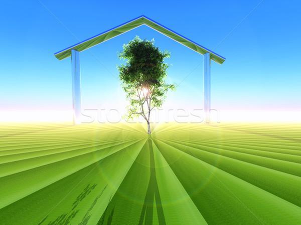 Ekolojik ev örnek ev mimari çevre Stok fotoğraf © guffoto