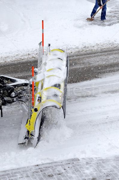 út hó jég tél gép hideg Stock fotó © guffoto