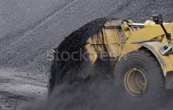 Excavator in coals. Stock photo © guffoto