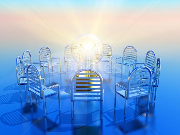 Idée cercle vide lumière conférence communication Photo stock © guffoto