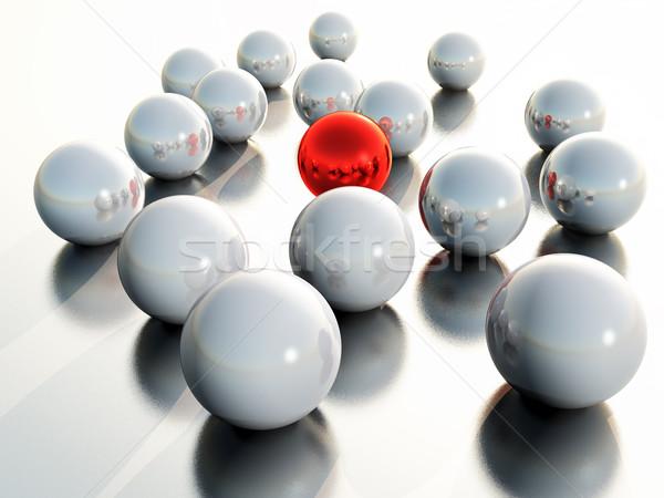 Gömb üveg labda piros árnyék műanyag Stock fotó © guffoto