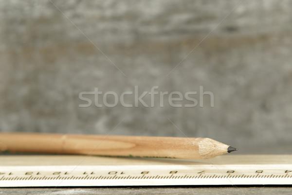 Crayon exclure bois bois dessin souverain Photo stock © guffoto