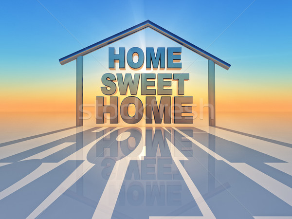 édes otthon szó bent forma ház Stock fotó © guffoto
