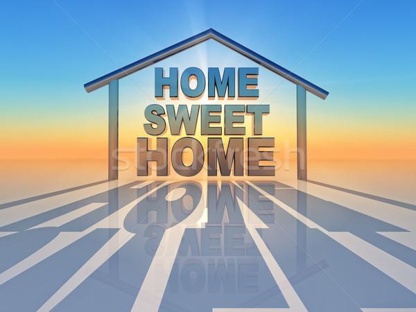 Sweet домой слово внутри форма дома Сток-фото © guffoto
