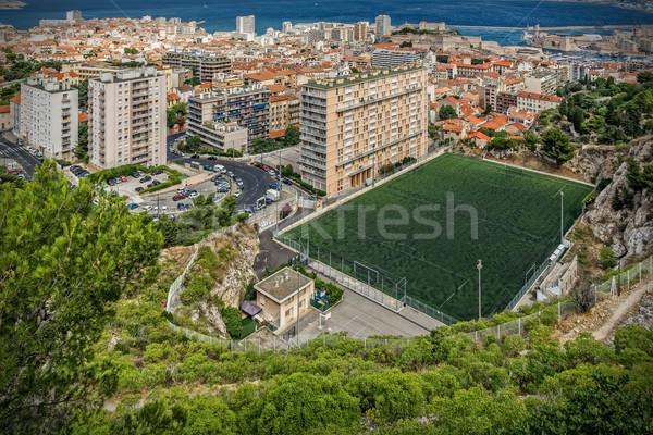 Marseille kilátás város épület tenger otthon Stock fotó © guffoto