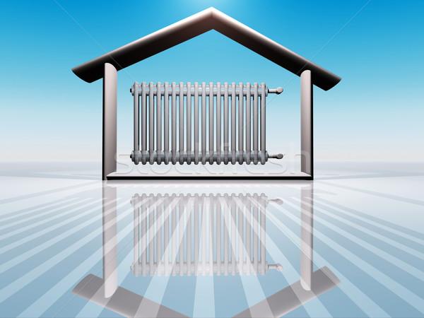 дома иллюстрация домой комнату энергии интерьер Сток-фото © guffoto