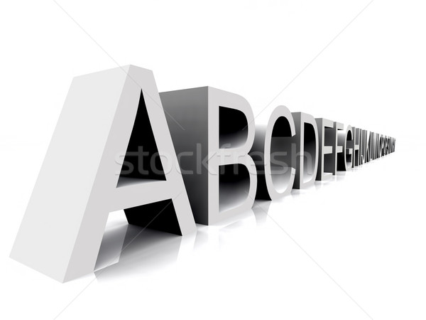 Alfabe örnek harfler Stok fotoğraf © guffoto