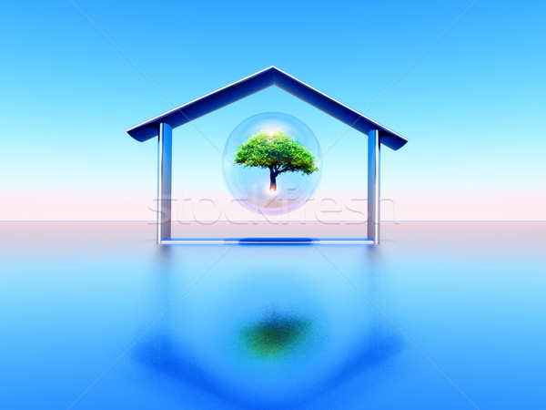 экологический дома иллюстрация строительство дизайна домой Сток-фото © guffoto