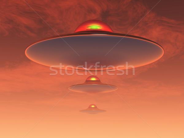 UFO tudományos fantasztikum illusztráció égbolt űr hajó Stock fotó © guffoto