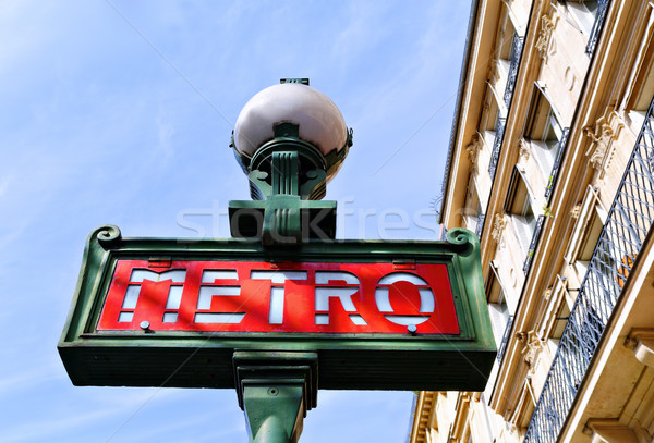 Métro rétro métro signe Paris ville Photo stock © guffoto