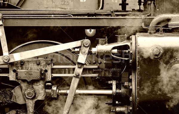 Stoomlocomotief gedetailleerd oude retro machine Stockfoto © guffoto