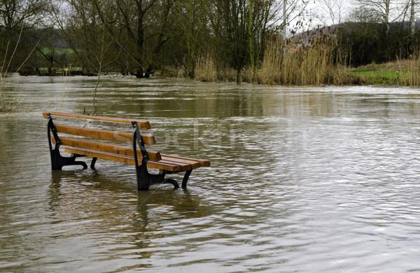 árvíz pad tájkép eső vihar park Stock fotó © guffoto