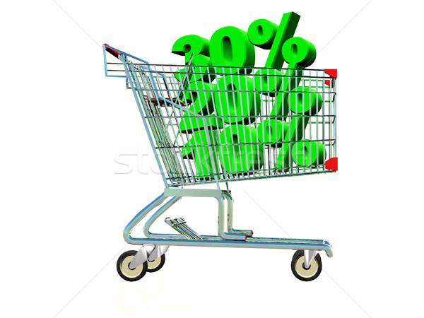 Alışveriş alışveriş sepeti alışveriş dengelemek satın almak ticaret Stok fotoğraf © guffoto