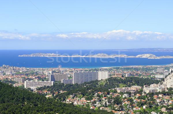 Marseille város Franciaország épület város kék Stock fotó © guffoto