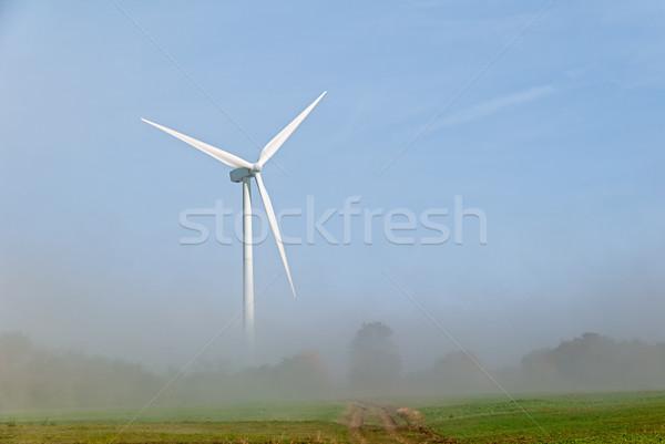 Rüzgar türbini yalıtılmış doğa teknoloji alan yeşil Stok fotoğraf © guffoto