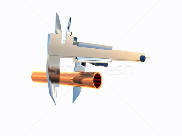 измерение строительство металл стали инструментом трубка Сток-фото © guffoto