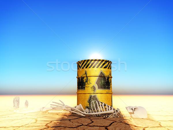 Radioactifs illustration industrie industrielle énergie jaune Photo stock © guffoto