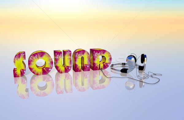 Hang musical illusztráció diszkó kő jókedv Stock fotó © guffoto