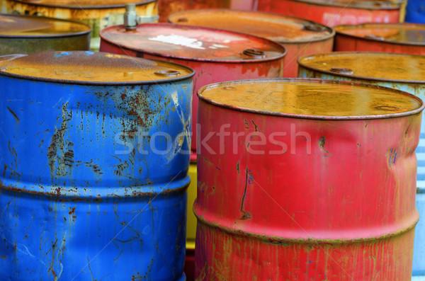 Endüstriyel depolama Metal namlu yağ konteyner Stok fotoğraf © guffoto