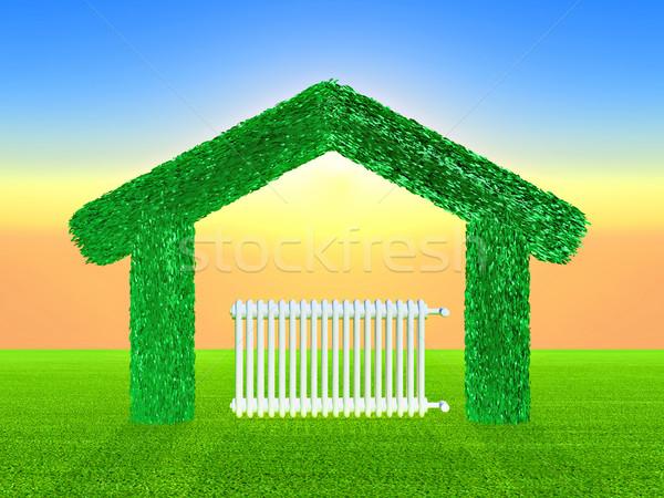 Verde casa radiador dentro energia interior Foto stock © guffoto