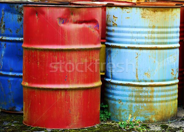 Métal rouillée métaux bleu blanche chimiques Photo stock © guffoto