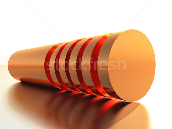 Cuivre cylindre industrie anneau pipe Photo stock © guffoto